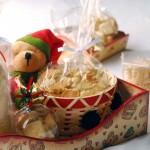 Urso de Pelucia com biscoitos amanteigados