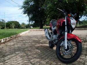 Uma bela moto da Yamaha