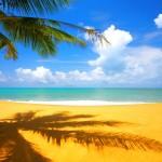 Praia, mae e natureza