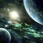 Espaço, planetas e Sol