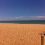 Uma praia deserta
