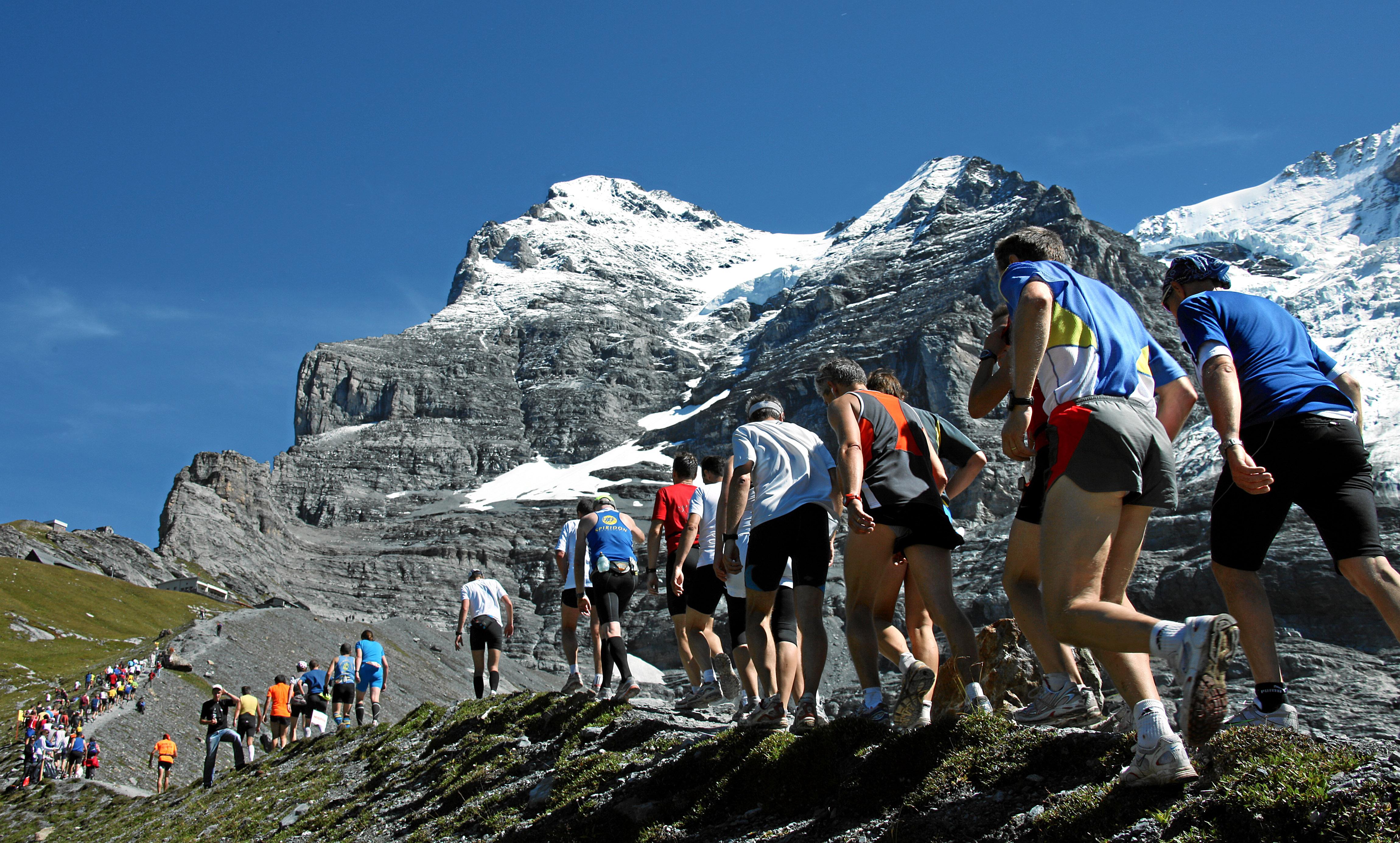 Jungfrau Marathon: Moraene