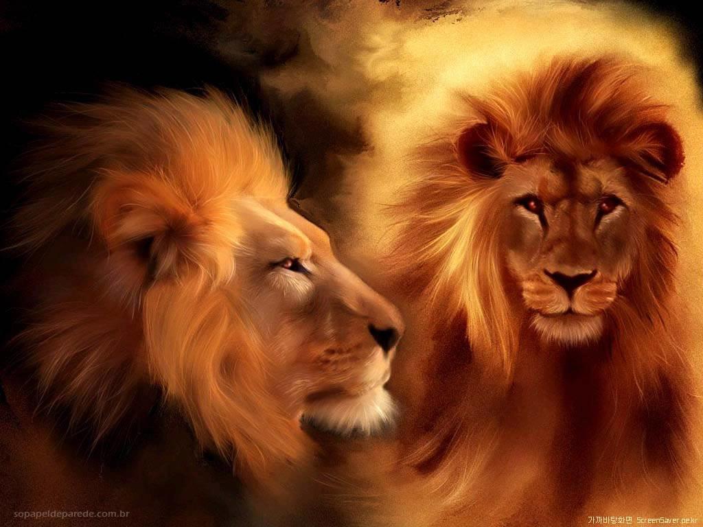 papel-de-parede-de-animais-wallpaper-pintura-leoes