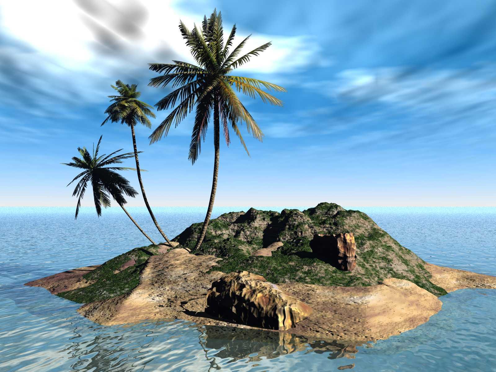 Papel-de-parede-3D-Ilha-1